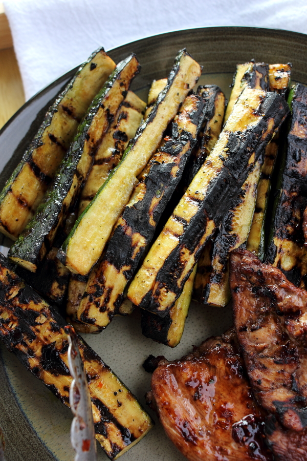 Asian Style Grilled Zucchini