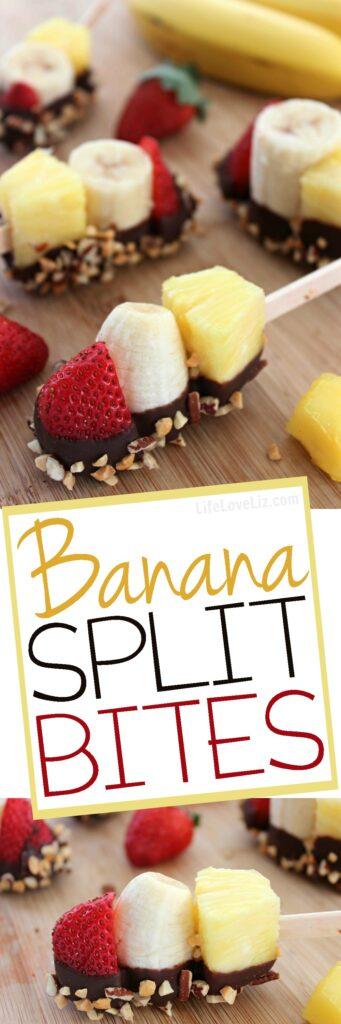 Banana-Split-Bites