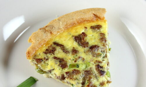 Sausage and Pepper Jack Quiche