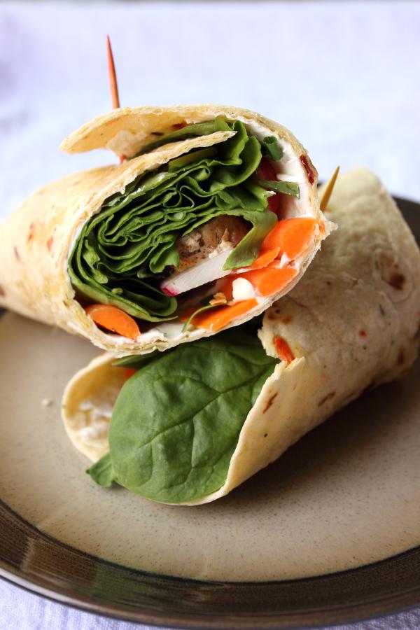 Chicken Spinach Wraps