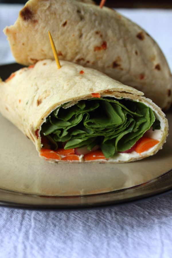 Chicken Spinach Veggie Wrap