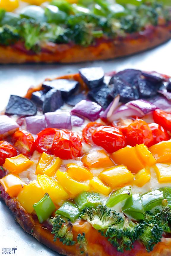 Rainbow-Veggie-Flatbread-Pizza-4