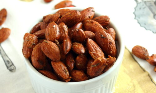 Honey-Mustard and Thyme Roasted Almonds