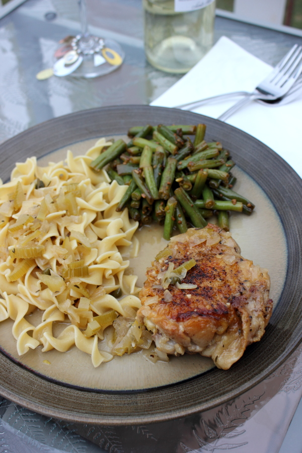 Post for One Hope Wine:  Chicken Thighs Braised In Sauvignon Blanc